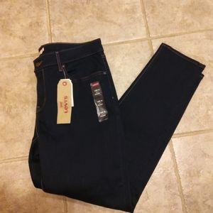 NWT DarkBlue Levi's 711 SkinnyJeans 18WM FirmPrice